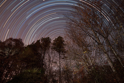 Star Trails in Athens, Georgia on the morning of 11/23/2012