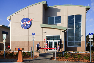 The entrance to the new Propellants North Administration and Maintenance Facility