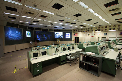 This is the Missions Operations Control Room that was used for most Gemini, Apollo and Space Shuttle Flights until 1998. I've seen many, many historic photos that were made in this room, so you can imagine how amazing the experience was to be there. As the flight control room for Apollo 11, the first manned moon landing, this room was designated a National Historic Landmark in 1985.