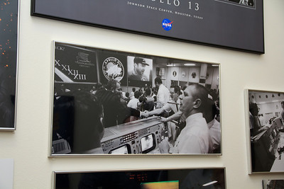 This image was made in the Mission Operations Control Room shortly after the Apollo 13 Crewmembers returned safely to Earth.