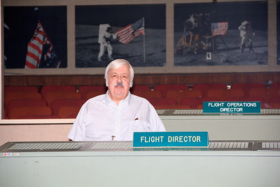 Here's dad, acting as flight director today.