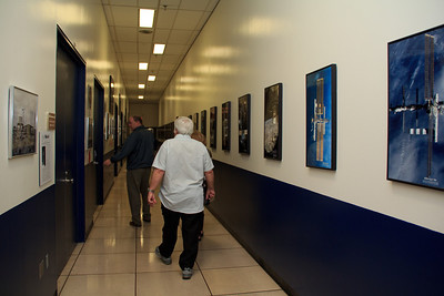 The hallways of the Mission Control Center Building are loaded with incredible imagery from the space program.