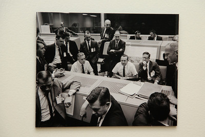 This is how that same flight director post looked during the days of the Gemini missions. This image was made during the Gemini 6 mission.