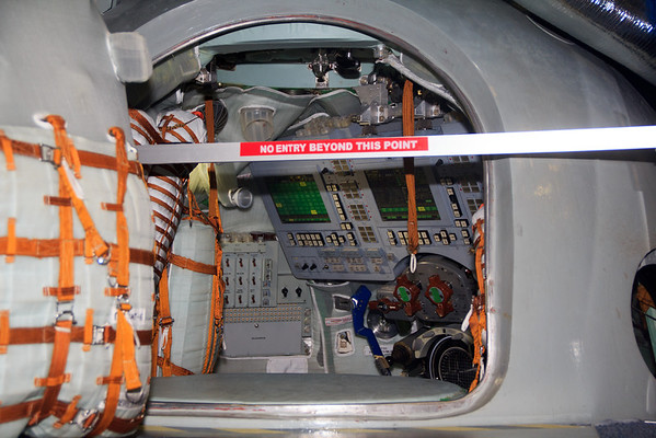 Here's a look inside the Soyuz trainer.