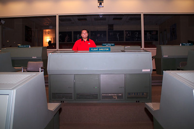 There's me having a go as the flight director.