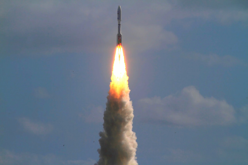 MSL launch, t+9 seconds
