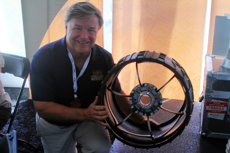 Scale mach up of one of the MSL wheels.