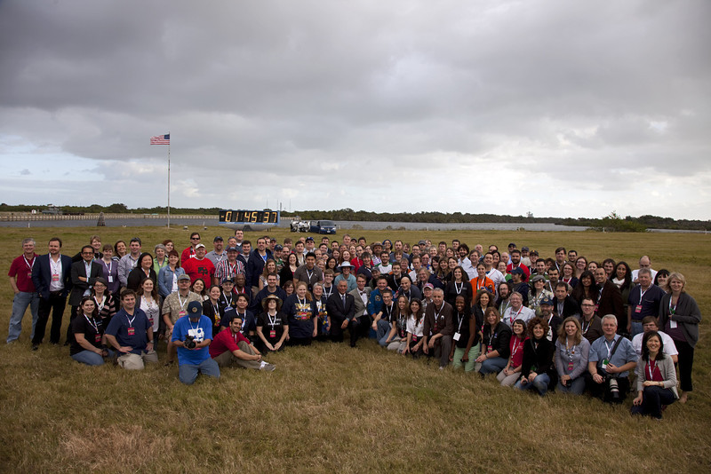 Tweetup group photo..Photo credit to NASA .