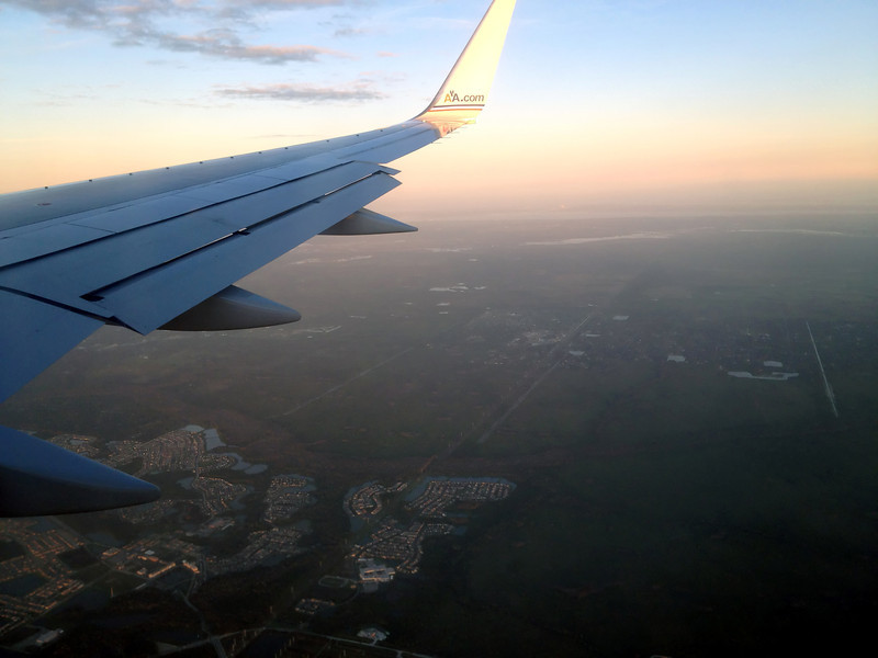 Descending into Orlando looking east, KSC and the VAB visible on the horizon.