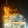 02/23/2011 -- Cape Canaveral, Florida -- The rotating service structure (RSS) rollback began at 8:02 PM EST at Kennedy Space Center's Launch Pad 39A. The structure provided protection for the space shuttle Discovery and access to the shuttle and its cargo for installation and servicing.