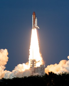02/24/2011 -- Cape Canaveral, Florida -- Space shuttle Discovery blasted off Thursday at 4:53:24 PM EST for its 39th and final mission into space.