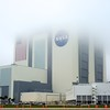02/23/2011 -- Cape Canaveral, Florida -- The Vehicle Assembly Building at Kennedy Space Center disappeared into the fog on Wednesday, the day before Discovery's launch.
