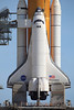 STS 131 Discovery on pad 39A during the RSS Rollback - 4/4/2010
