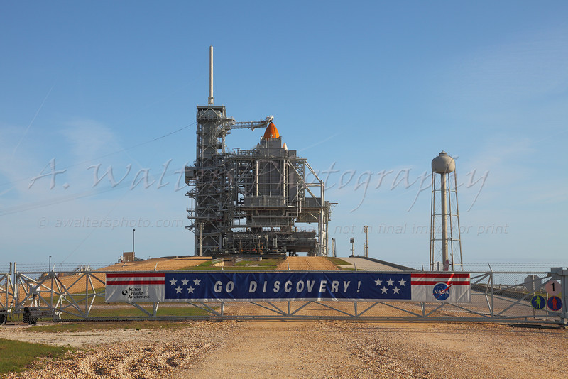 STS 131 Discovery on pad 39A preparing for the RSS Rollback - 4/4/2010
