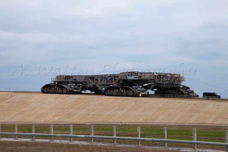STS 131 Roll Out 3/3/2010 Discovery - Crawler Transporter coming back down from pad 39A after dropping of STS131