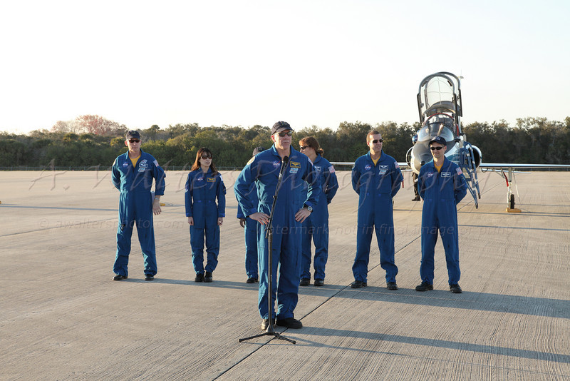 STS 131 Crew Arrival 3/1/2010