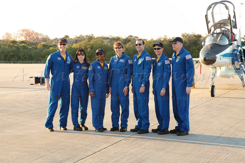STS 131 Crew Arrival 3/1/2010 at the SLF