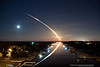 "Waterway to Orbit Wallpaper :       Waterway to Orbit Desktop Wallpaper Over the last couple years, many people have asked if a larger resolution version of ""Waterway to Orbit"" is available for sale or donation, so they can use it for their desktop wallpaper.  When I received an Honorable Mention for the photo in the 2011 National Geographic Photography Contest, the nice people at National Geographic put together this beautiful wallpaper complete with their logo, in order to share it with anyone who would like to see it on their desktop.  I am making that photo available for free here on my website as well.  The resolution is 1800x1200.  Hopefully it will meet most of your requirements.  Please feel free to share this page with anyone else who might be interested in downloading a copy.  The download is free, but if you are still interested in supporting my Photography you are certainly welcome (and encouraged ) to do any or all of the following:           - ""Like"" me on Facebook,   Follow me on Twitter,   Add me to your Circles on Google+. - Purchase prints of other photos throughout my website. (May I suggest a print of ""Waterway to Orbit?"") - Come back to this website and use my ""click-through"" links before you shop at Amazon, Adorama, or B&H Photo & Video.   More Info Here.   If you are ordering a print, order it from the original Waterway to Orbit page, NOT here. This copy of the photo is a much lower resolution than the one for sale.  This photo is free for you to use on your desktop as wallpaper.  It may not be used commercially or printed without written permission from James Vernacotola Photography.  Also, please *do not* crop out the watermark at the bottom.  If you have any questions or comments, please feel free to  contact me.  Thanks again for your support.  James Vernacotola         In order to download the full resolutionwallpaper, click ""Download Image"" below.                LikeFollowCircle"