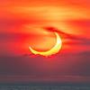 Annular Solar Eclipse Over Ocean 6/10/21