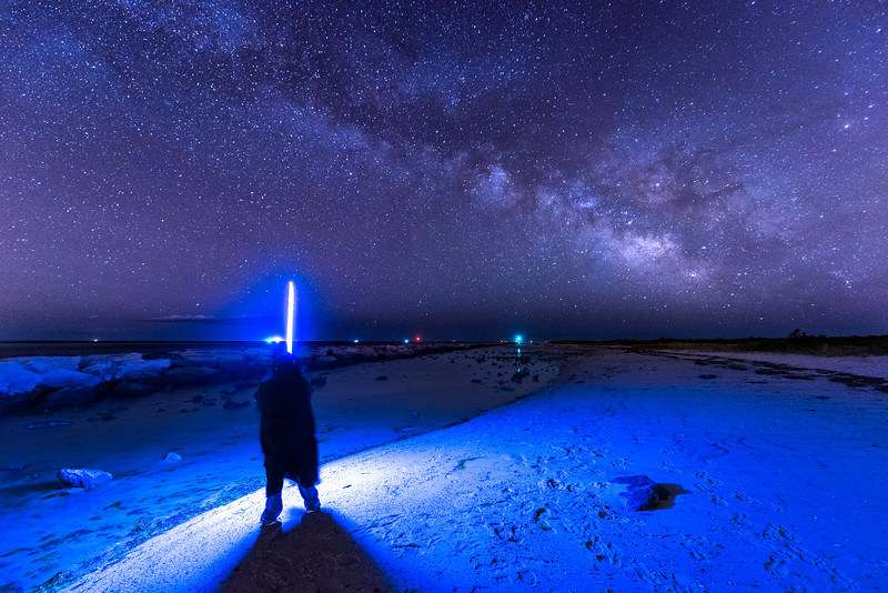 The Milky Way Rising Over Jedi on Beach 5/27/17
