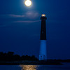 Full Moon Setting Behind Barnegat Lighthouse 8/26/18