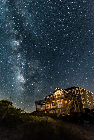Milky Way Over Corolla House 8/3/16