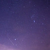 Orionid Meteor Streaking Near From Constellation Orion 10/22/17