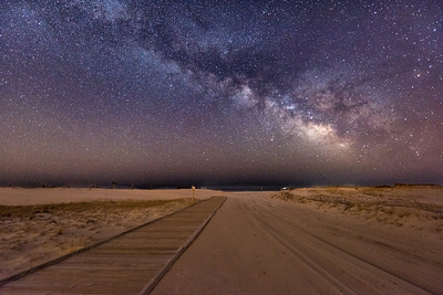 The Milky Way Rising Over The Fisherman's Walkway in Island Beach State Park 4/11/18