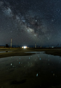 The Milky Way Reflecting in a Puddle 3/16/19