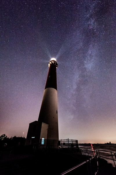 Milky Way Arching Over Barnegat Lighthouse 7/31/17