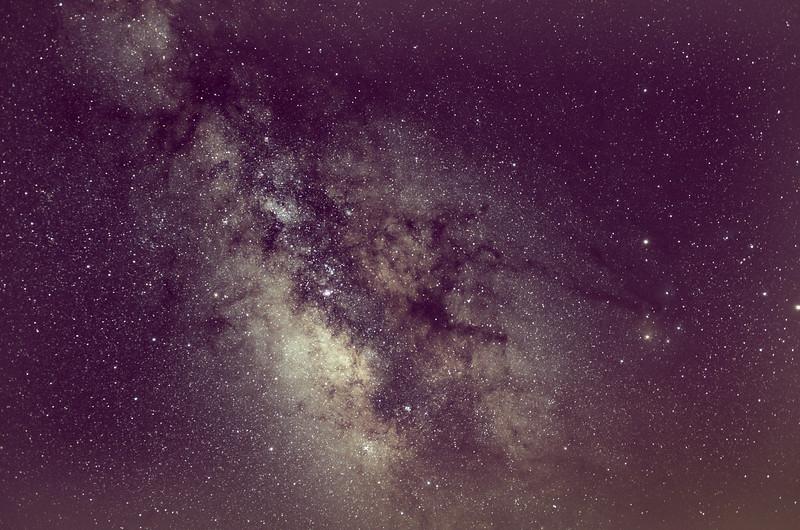 Milky Way Galaxy Core with Dark Horse Nebula 8/4/16