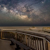 The Milky Way Rising Over A Bench At Assateague Island, MD 5/13/21