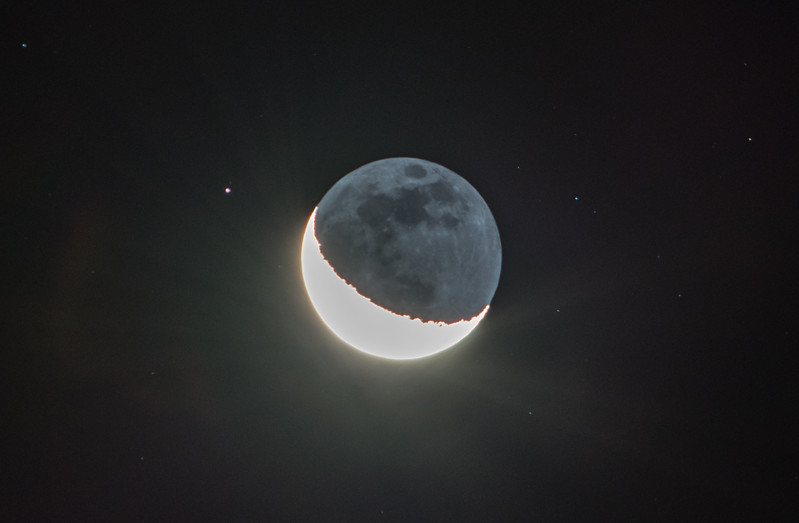 Waning Crescent Moon with Earthshine