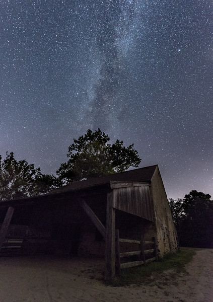 Milky Way Arching Over Farmhouse 7/31/17