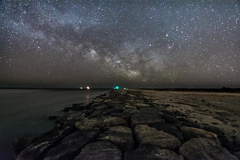 Milky Way Galaxy Over Barneget Inlet 4/6/16