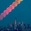 Timelapse of Full Moon Rising Over Southern Manhattan 6/9/17