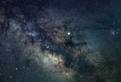 A Close-Up of the Milky Way Galactic Core With The Dark Horse Nebula 5/7/19