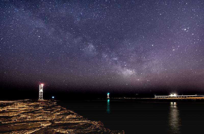 Milky Way Galaxy Rising Over Shark River Inlet 3/19/16