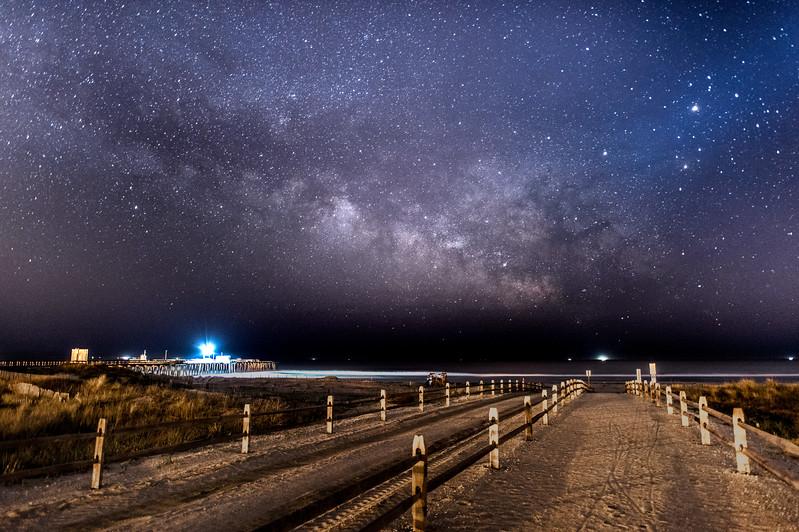 Milky Way Rising Over Avalon Beach Pathway 5/9/16