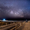 Milky Way Rising Over Avalon Beach Pathway 5/9/16