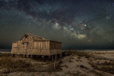 The Milky Way Rising Over The Judge's Shack in Island Beach State Park 4/29/19