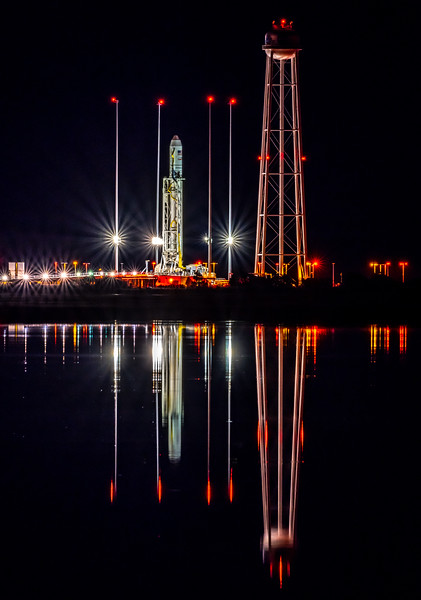 Antares Rocket on Launchpad at NASA Wallops Island, VA 11/16/18