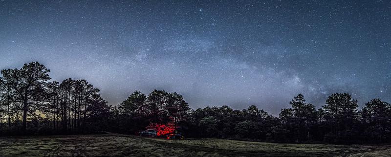 The Milky Way Galaxy Arching Across the Sky, Jackson, NJ