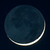 Waxing Crescent Moon with Earthshine 01/11/16