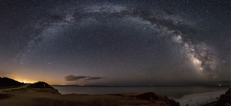 Milky Way Panorama Over Montauk, NY 5/3/17