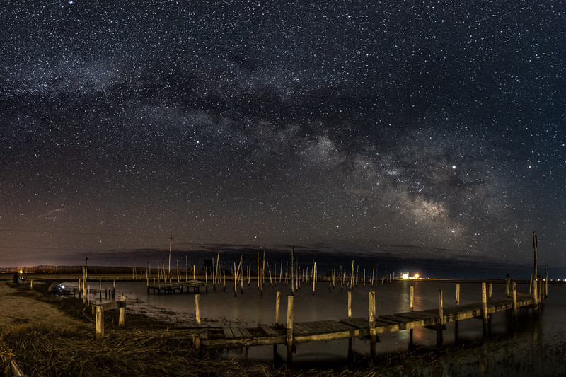 The Milky Way Arching Over Old Marina in Little Egg Harbor 3/16/19