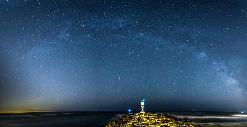 The Milky Way Galaxy Arching Across the Sky Over Belmar, NJ