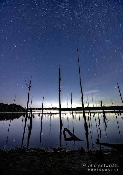 A Timelapse Video Of Star Trails Over The Dead Trees In The Manasquan Reservoir 10/1/21