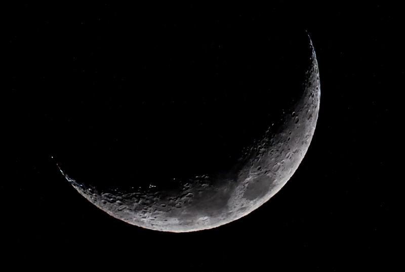 Waxing Crescent Moon 1/10/19