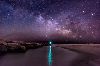 The Milky Way Rising Over The Barnegat Jetty 2/17/18